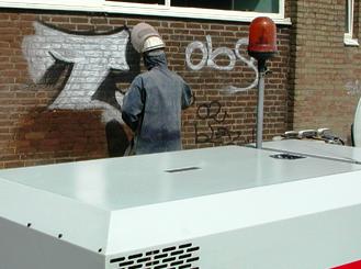 graffiti verwijderen stralen