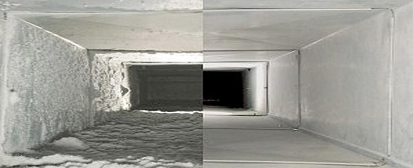 voor en na ventilatiereiniging